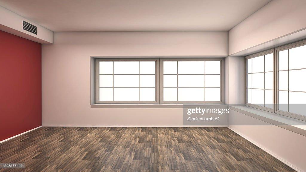 red empty interior : Stock Photo