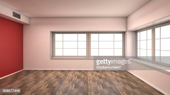 red empty interior : Stock Photo