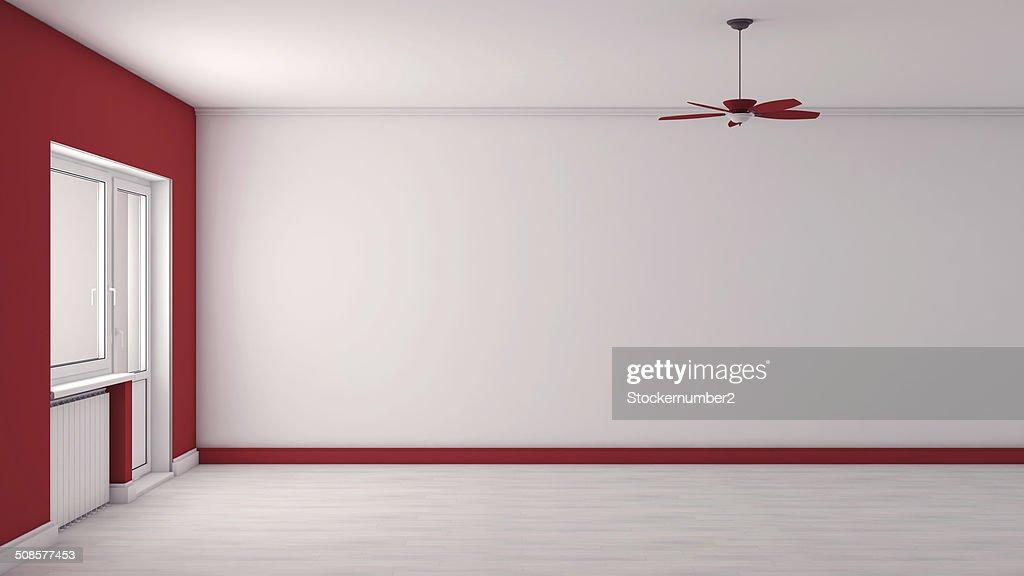 Rote leere Innenraum : Stock-Foto