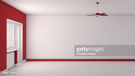 red empty interior : Stockfoto