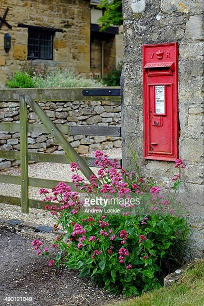 Red english letterbox.