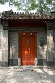 Red entrance, China, Beijing, Hutong