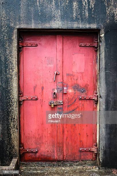 Red Explosion proof door