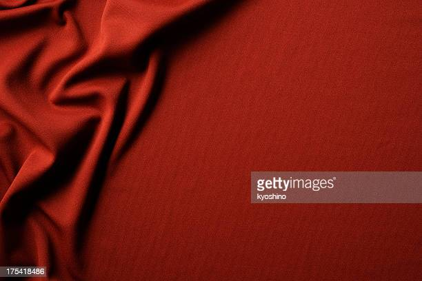 Red fabric texture of wave pattern with copy space