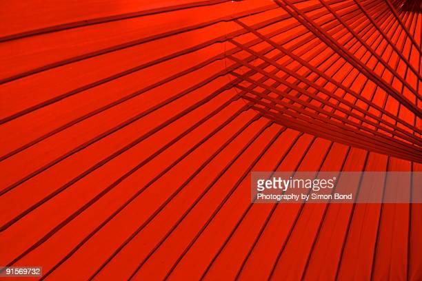 A red fan