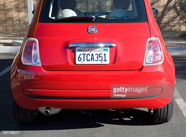 Rouge Automobile Fiat 500
