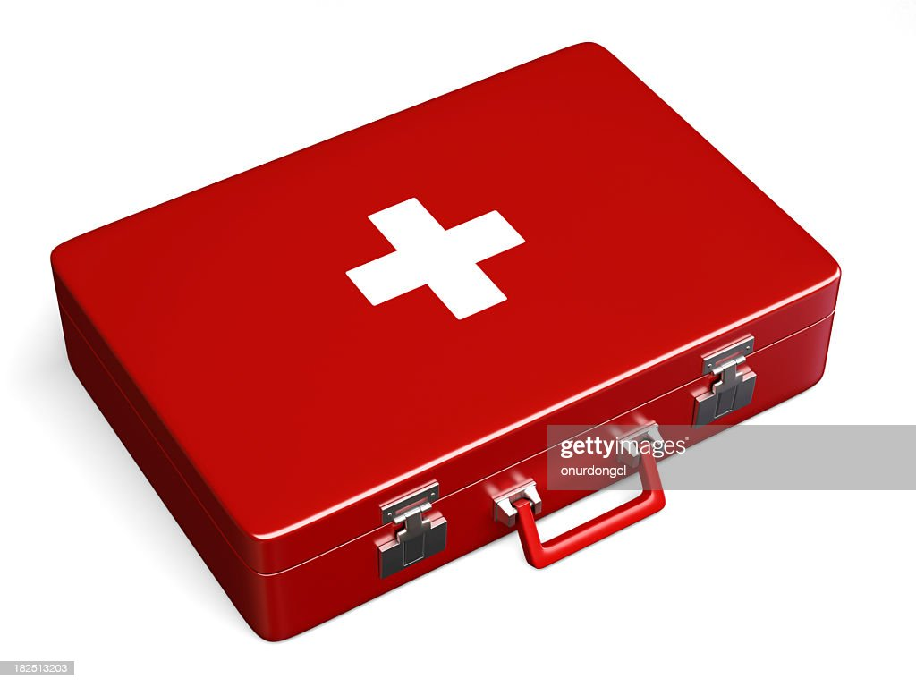 First Aid Case with Clipping Path