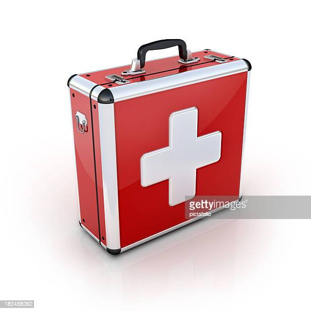 red first aid suitcase