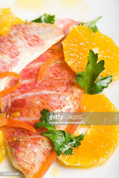 red fish and oranges