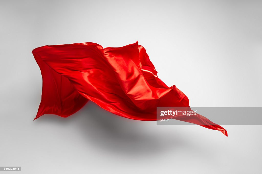 red flying fabric : Stock Photo