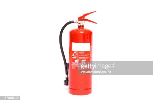 Red foam extinguisher : Stock-Foto