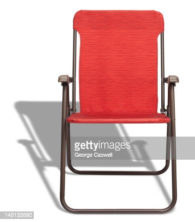 Red Folding Lounge Chair : Stock Photo
