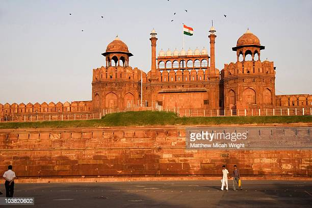Red Fort at sunset.