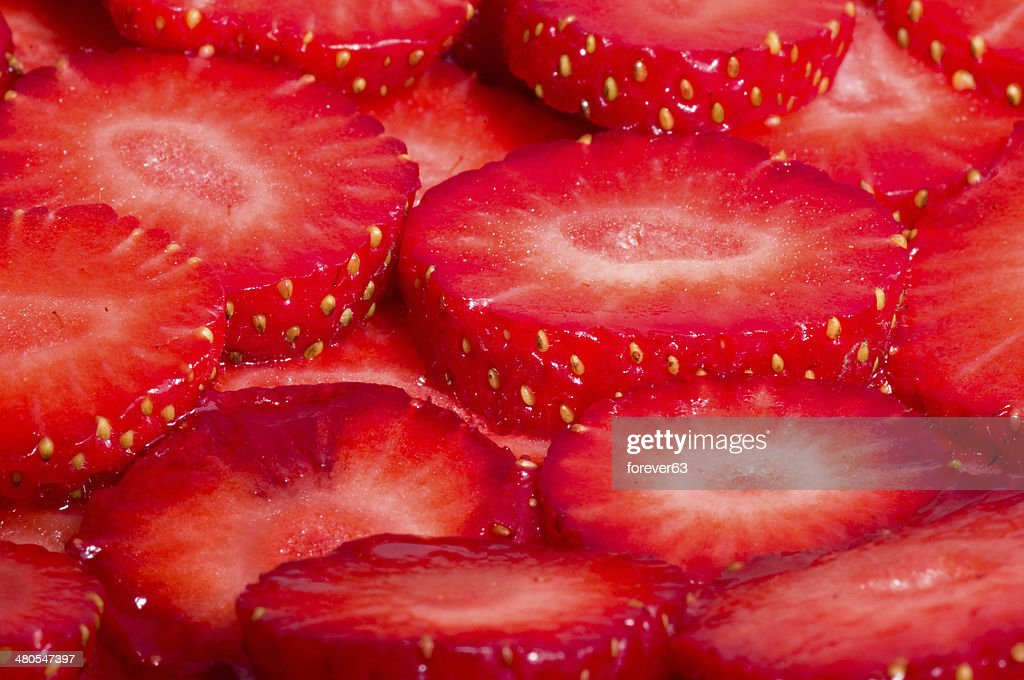 Red fresh strawberry background : Stock Photo