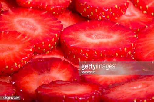 Red fresh strawberry background : Stock Photo