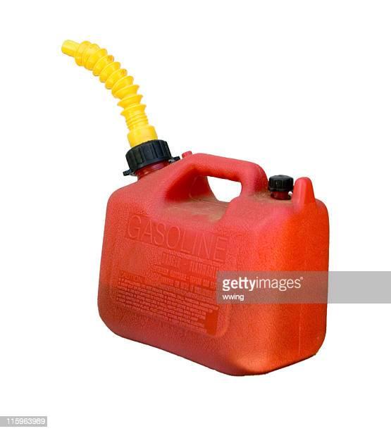 Rosso Gas Can isolato