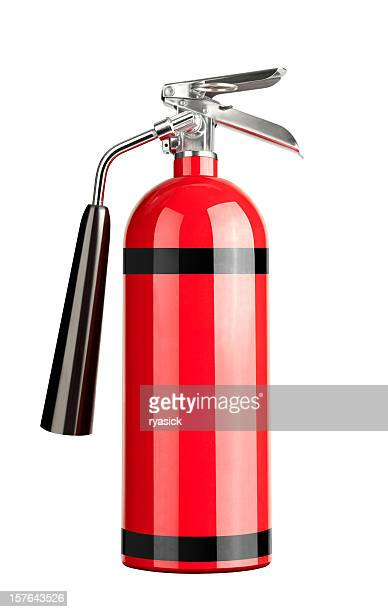 Red Generic Fire Extinguisher Isolated On White