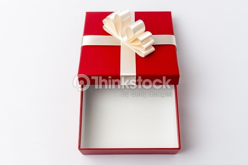 Red gift box open stock photo thinkstock red gift box open top view negle Images