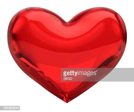 Vetro rosso con cuore, San Valentino, amore concetto (XXXL - 41MPx canale alfa) gratuito