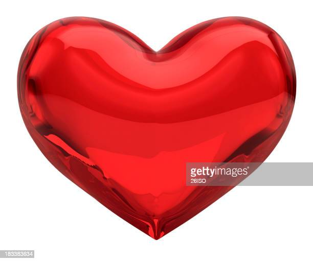 Red Glass Heart, Valentine/Love Concept (XXXL-41MPx) FREE Alpha Channel