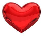 'Red Glass Heart, Valentine/Love Concept (XXXL-41MPx) FREE Alpha'