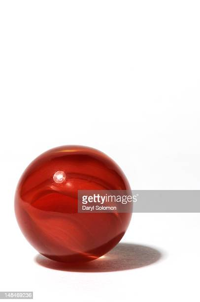 Red glass marble