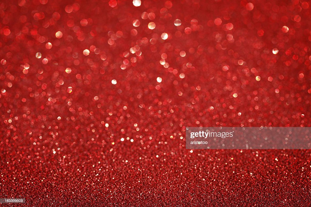 Red Glitter Christmas Background Stock Photo