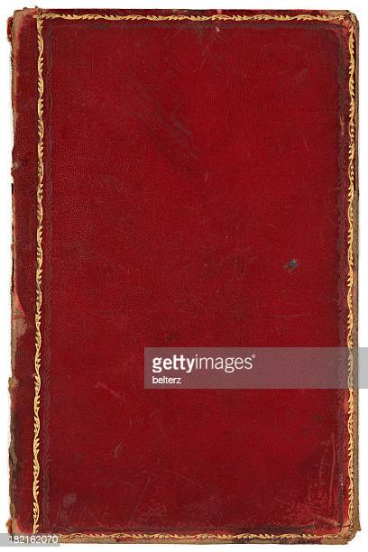 red gold edged book cover