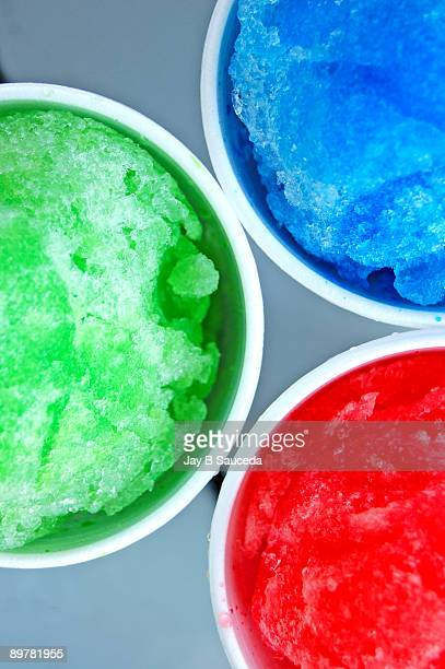 Red Green and Blue Snow Cones