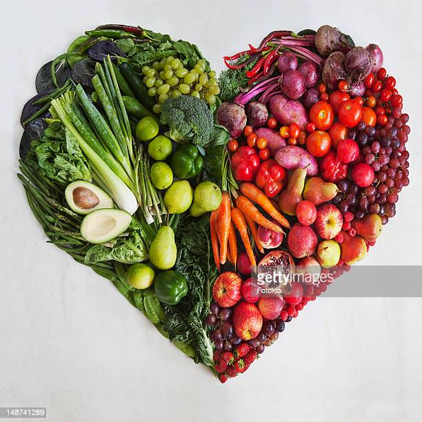 Red & Green Food Heart