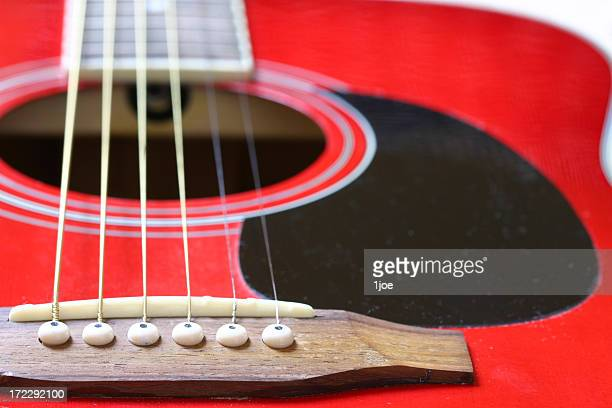 Ponte vermelha detalhe de Guitarra