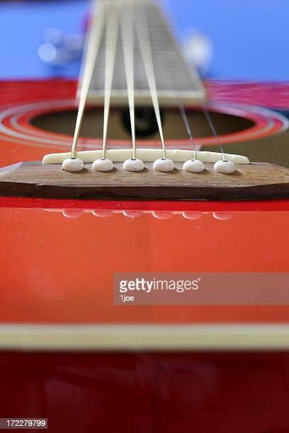 Guitarra vermelho