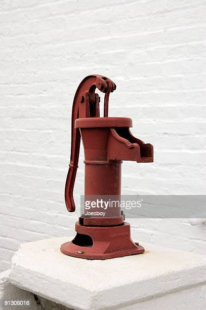 Red Hand Pump Vertical