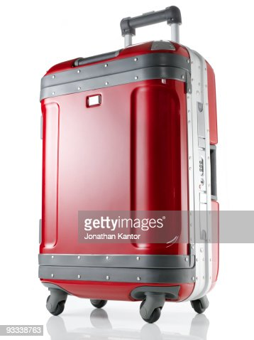 Red Hard Suitcase : Stock Photo
