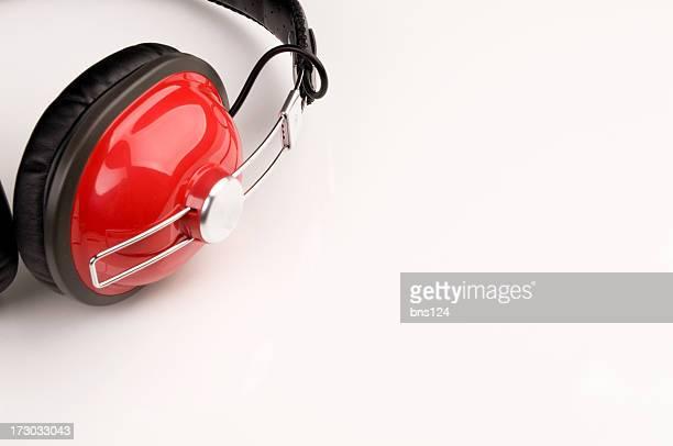 Des écouteurs rouge