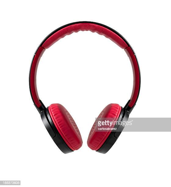 Red Headphones w/clipping path
