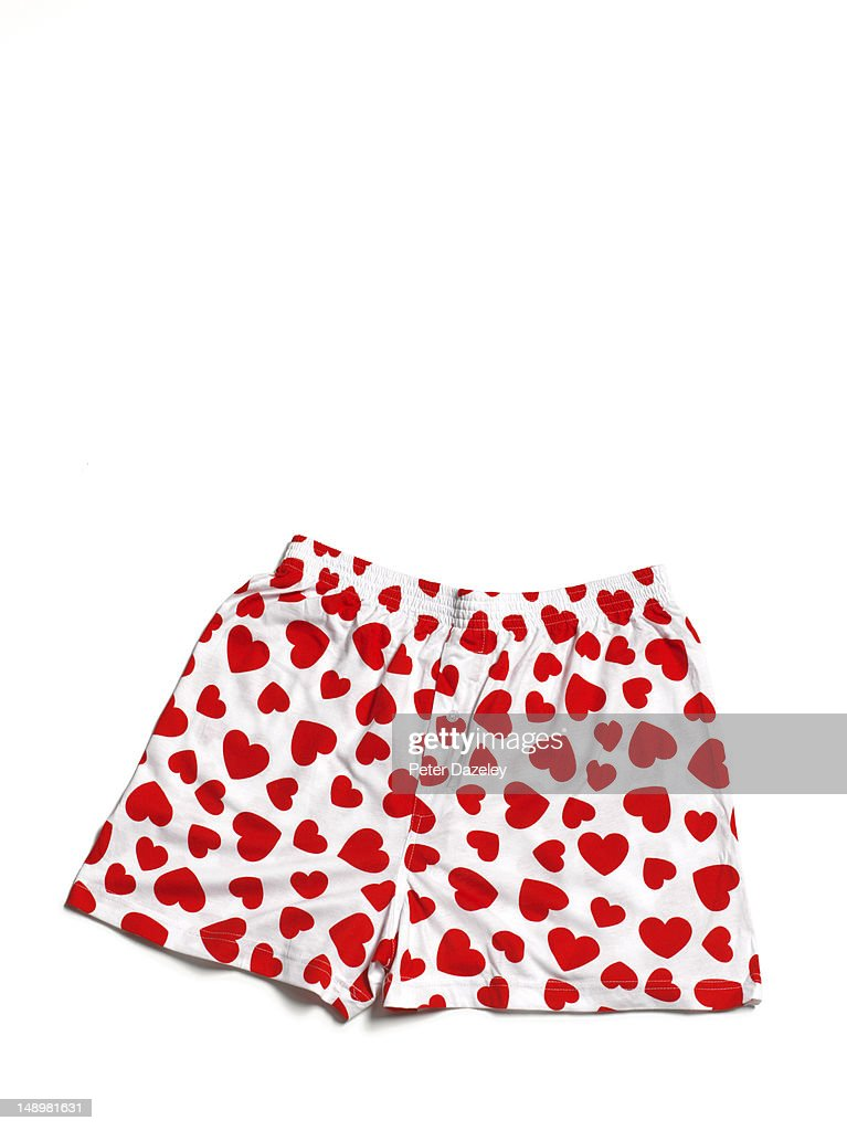Red heart boxer shorts