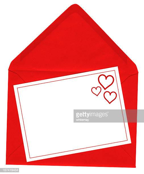 Red heart card with envelope