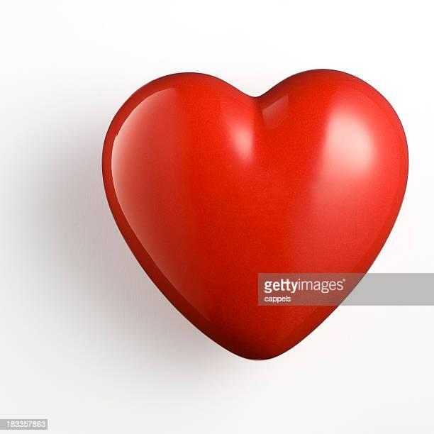 Rosso cuore su bianco Background.Color immagine