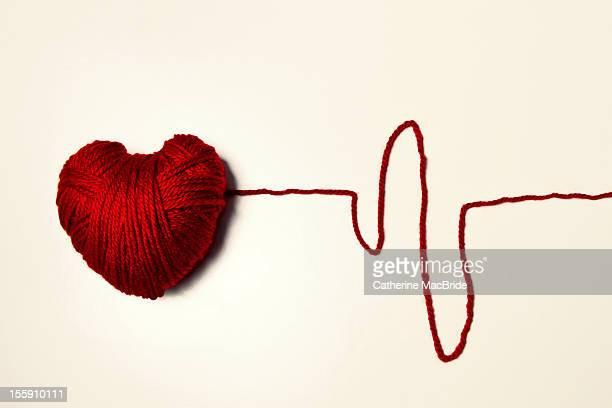 Red Heart Shaped Yarn