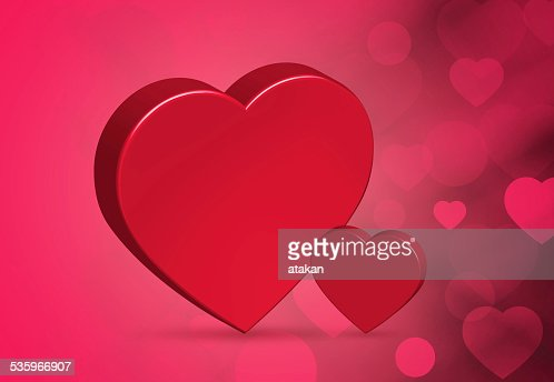 Red Hearts Background : Stock Photo