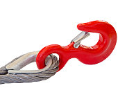 red hook isolated on white background. clipping path.
