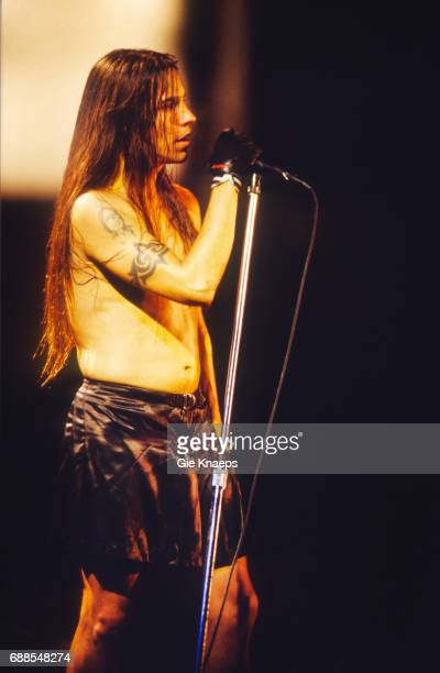 Red Hot Chili Peppers Anthony Kiedis wearing a skirt Pukkelpop Festival Hasselt Belgium