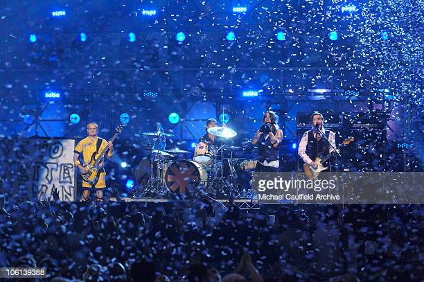 Red Hot Chili Peppers perform 'Snow ' during The 49th Annual GRAMMY Awards Show at Staples Center in Los Angeles California United States