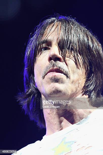 Red Hot Chili Peppers performs at The Isle of Wight Festival at Seaclose Park on June 14 2014 in Newport Isle of Wight