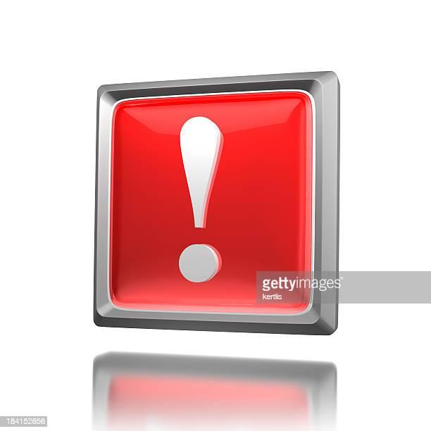 Ícone vermelho de atenção