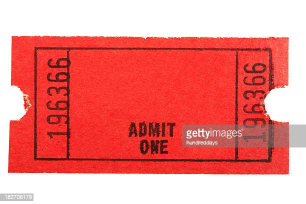 Red Isolated Ticket
