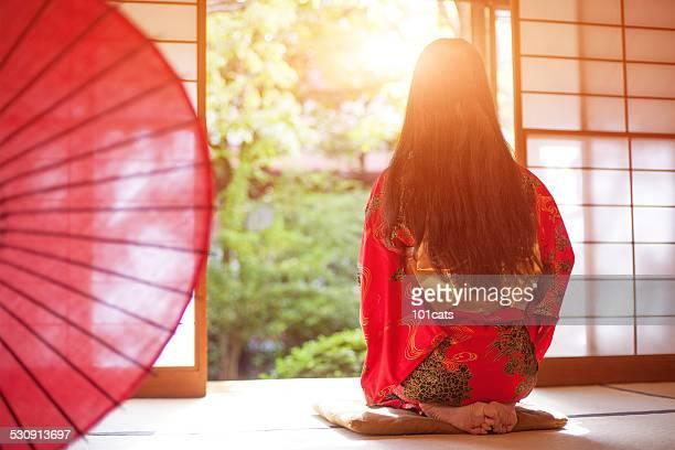 red-kimono
