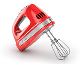 Red kitchen mixer. 3d illustration