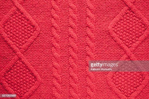 Red knitted wool
